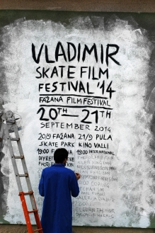 Nikola working on the teaser and the poster for the festival